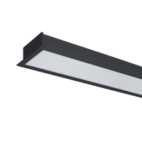 HIGH POWER LED PROFILE RECESSED S48 40W 4000K BLACK