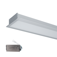HIGH POWER LED PROFILE RECESSED S48 40W 4000K GREY+EMERGENCY KIT