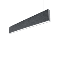 ACOUSTIC LED PROFILE HANGING S36 20W 4000K BLACK